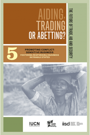 Aiding Trading of Abetting? Promoting Conflict-Sensitive Business