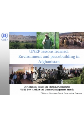 UNEP Lessons Learned: Environment and Peacebuilding in Afghanistan