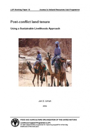 Post-Conflict Land Tenure: Using a Sustainable Livelihoods Approach