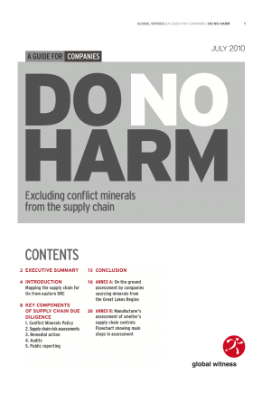 Do No Harm: Excluding Conflict Minerals from the Supply Chain
