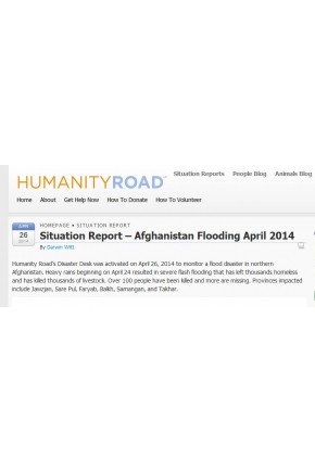 Situation Report – Afghanistan Flooding April 2014