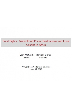 Food Fights: Global Food Prices, Real Income and Local Conflict in Africa