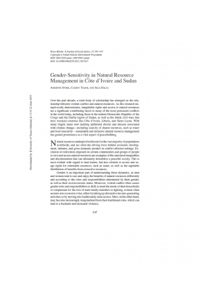Gender-Sensitivity in Natural Resource Management in Cote d'Ivoire and Sudan