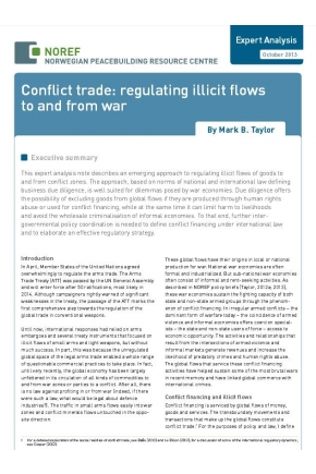 Conflict Trade: Regulating Illicit Flows to and from War