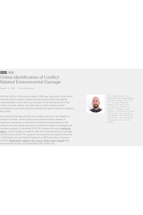 Online Identification of Conflict Related Environmental Damage