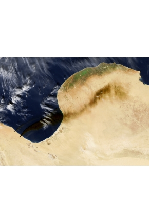 Oil Tank Fires in Libya [Photos]