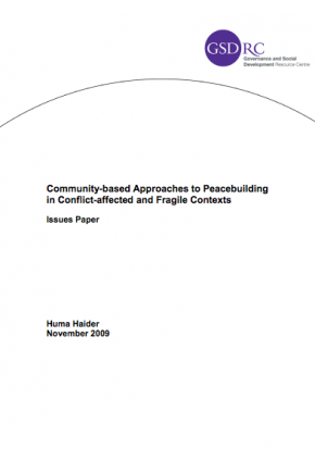 Community-Based Approaches to Peacebuilding in Conflict-Affected and Fragile Contexts