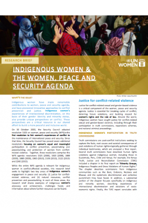 Indigenous Women & the Women, Peace and Security Agenda