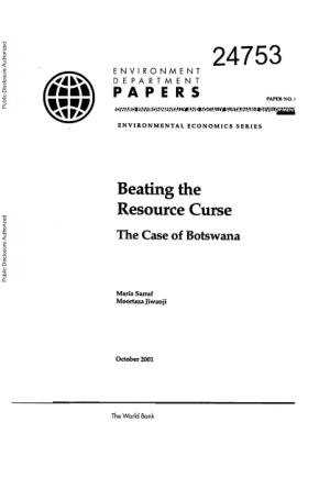 Beating the Resource Curse: The Case of Botswana