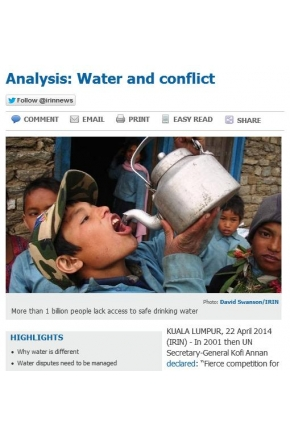 Analysis: Water and Conflict