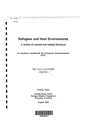 Refugees and Host Environments -- A Review of Current and Related Literature