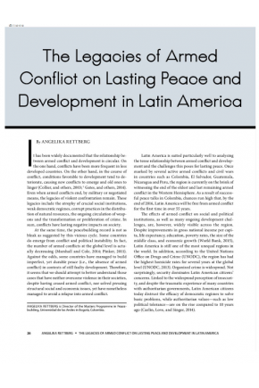 The Legacies of Armed Conflict on Lasting Peace and Development in Latin America