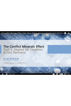 The Conflict Minerals Effect Video Series Part III: Impact on Creation & Our Partners [Video]