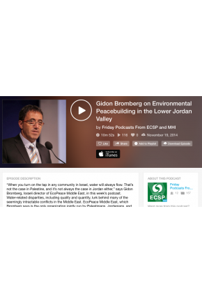 Gidon Bromberg on Environmental Peacebuilding in the Lower Jordan Valley [Audio]