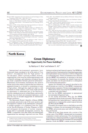 North Korea and Green Diplomacy -- An Opportunity for Peace Building?