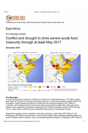 East Africa: Key Message Update