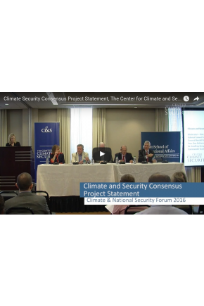 Bipartisan Climate and Security Consensus Statement Release [Video]