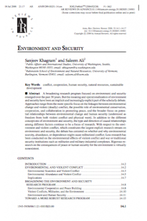 Environment and Security