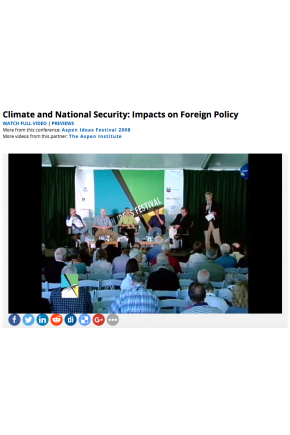 Climate and National Security: Impacts on Foreign Policy [Video]