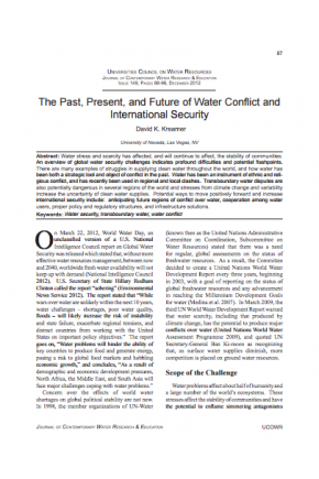 The Past, Present, and Future of Water Conflict and International Security