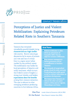 Perceptions of Justice and Violent Mobilization: Explaining Petroleum Related Riots in Southern Tanzania