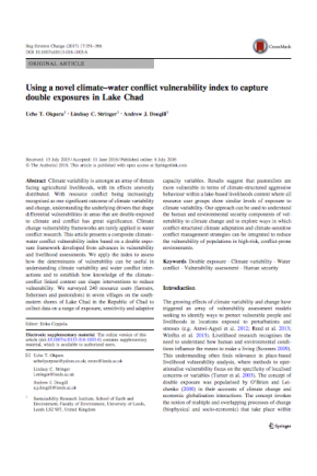 Using a Novel Climate-Water Conflict Vulnerability Index to Capture Double Exposures in Lake Chad