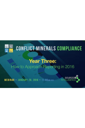 Conflict Minerals Compliance Year Three: How to Approach Reporting in 2016 [Video]