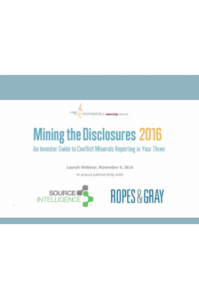 Mining the Disclosures 2016: Investor and NGO Expectations of Conflict Minerals Reporting [Video]
