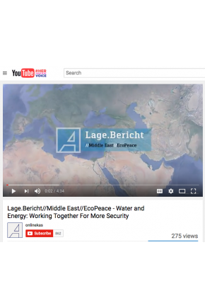 Lage.Bericht//Middle East//EcoPeace - Water and Energy: Working Together for More Security [Video]