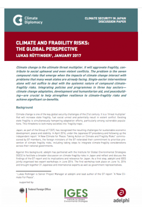 Climate-Fragility Risks - The Global Perspective