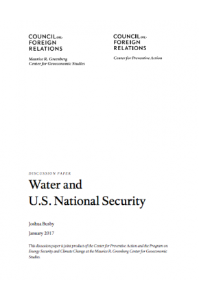 Water and U.S. National Security
