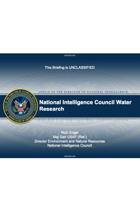 National Intelligence Council Water Research