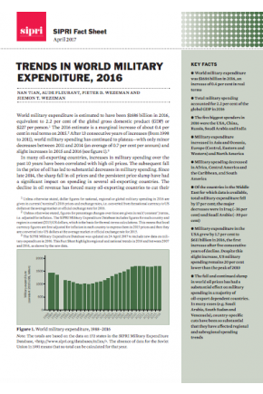 Trends in World Military Expenditure, 2016
