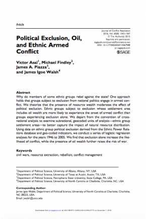 Political Exclusion, Oil, and Ethnic Armed Conflict