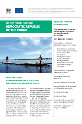 Eco-DRR Project Fact Sheet Democratic Republic of the Congo