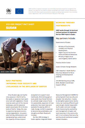 Eco-DRR project Fact Sheet Sudan
