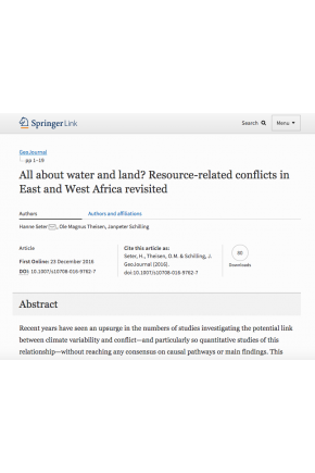 All about Water and Land? Resource-Related Conflicts in East and West Africa Revisited