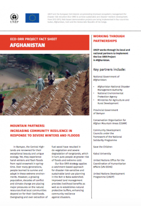 Eco-DRR Project Factsheet (Afghanistan)