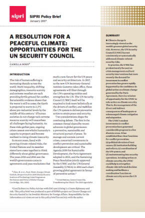 A Resolution for a Peaceful Climate: Opportunities for the UN Security Council