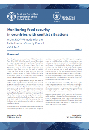 Monitoring Food Security in Countries with Conflict Situations (a Joint FAO/WFP Update)