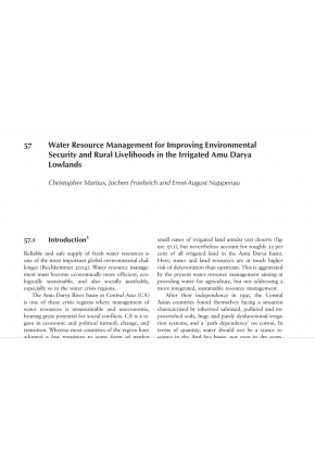 Water Resource Management for Improving Environmental Security and Rural Livelihoods in the Irrigated Amu Darya Lowlands