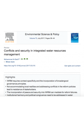 Conflicts and Security in Integrated Water Resources Management