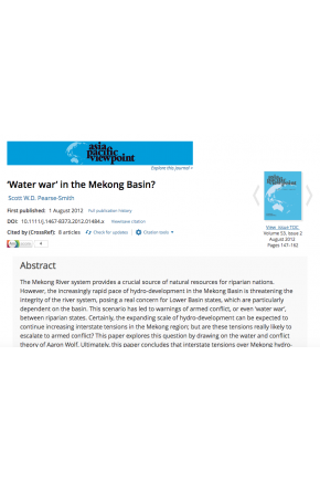 """Water War"" in Mekong Basin?"
