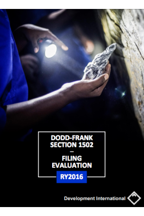 Dodd-Frank Section 1502 – Filing Evaluation RY2016
