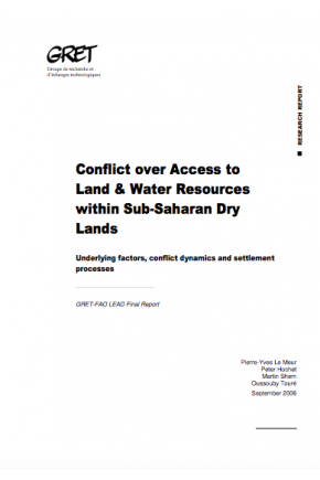 Conflict over Access to Land & Water Resources within Sub-Saharan Dry Lands