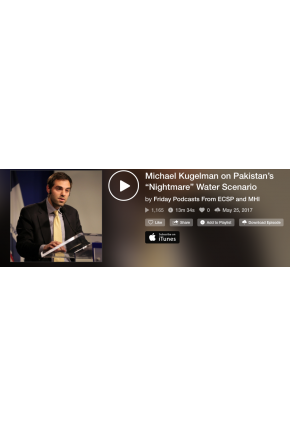 "Michael Kugelman on Pakistan's ""Nightmare"" Water Scenario [Audio]"