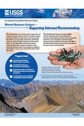 U.S. Geological Survey Mineral Resources Program—Mineral Resource Science Supporting Informed Decisionmaking
