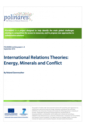 International Relations Theories: Energy, Minerals and Conflict