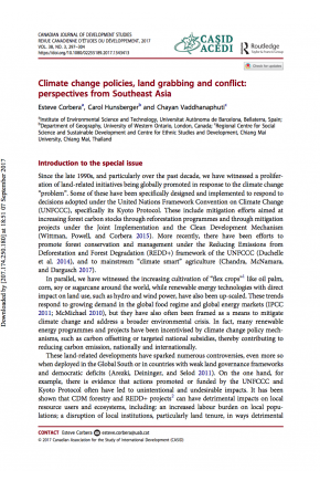 Climate Change Policies, Land Grabbing and Conflict: Perspectives from Southeast Asia