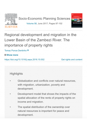 Regional Development and Migration in the Lower Basin of the Zambezi River: The Importance of Property Rights